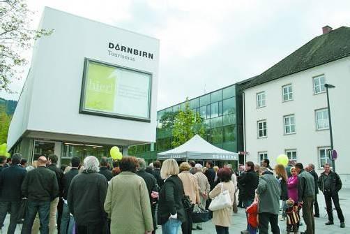 Am Samstag wurde das neue Bürogebäude zwischen Rat- und Kulturhaus eröffnet. Foto: Hagen