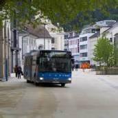 Bus am Kornmarktplatz