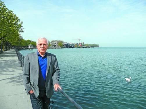 Der Genussmensch Manfred Bliem liebt den See und seine Heimatstadt Bregenz. Foto: Marlene Matt