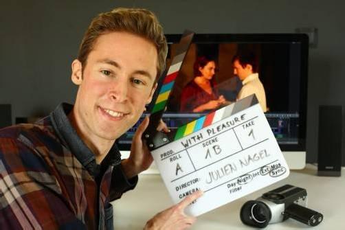 Der junge Filmemacher Julien Nagel aus Dornbirn wäre am liebsten nur noch Regisseur bei großen Spielfilmproduktionen. Foto: VN/Hartinger