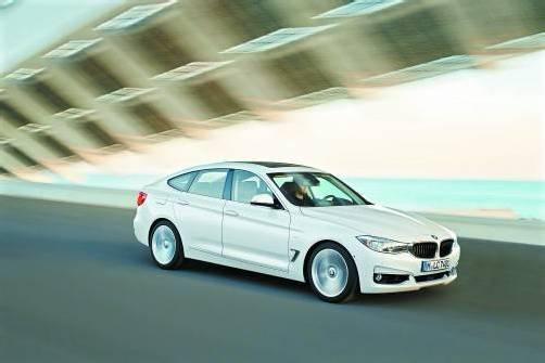 Der neue BMW 3er GT – eine Symbiose aus Limo, Coupé, Kombi und SUV, künftig auch mit Allrad-Antrieb. Fotos: werk