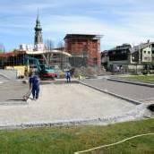 Neuer Parkplatz in Höchst vor Fertigstellung