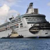 Kreuzfahrtschiff geriet in der Karibik in Brand
