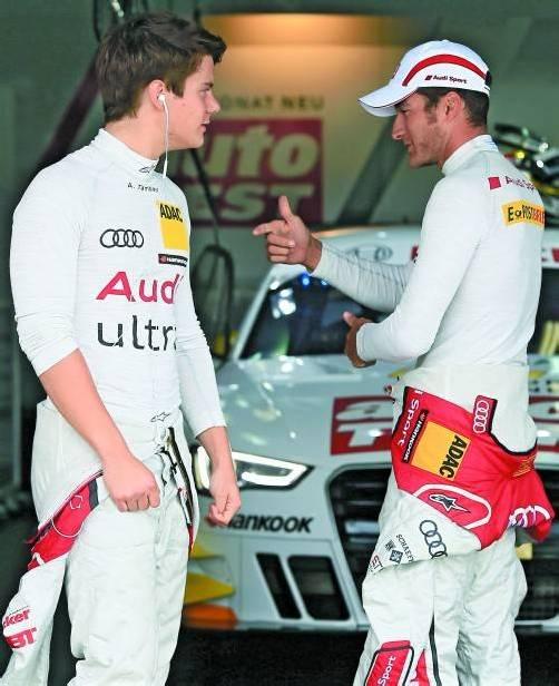 Die beiden Lochauer wollen in der DTM für Audi Topplätze herausfahren: Adrien Tambay (l.) und Timo Scheider. Foto: audi