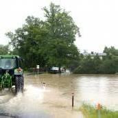 Dauerregen hält viele Einsatzkräfte auf Trab