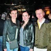 Gästetrio: Karin (l.) mit Anna und Michael Seyfried.