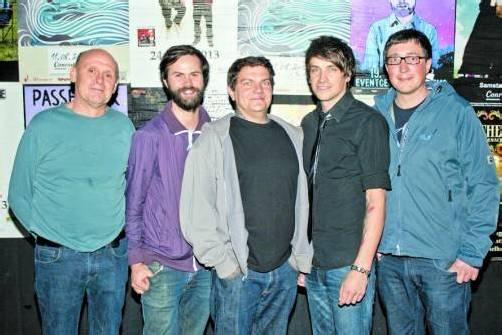 Sohm-Gründer Hannes Rothmeyer (l.) mit Jodok Dietrich und Michael Hirt sowie Daniel Schweighofer und Hannes Hagen. Fotos: FRANC