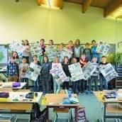 Vandanser Volksschüler wurden im Unterricht zu Zeitungsexperten
