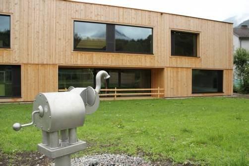 Befinden sich bereits in der Endphase: die Bauarbeiten beim neuen Susi-Weigel-Kindergarten in Bludenz. Foto: Schwald