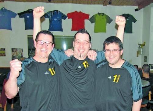 Das Meisterteam des UTTC Altach: Fredy Welte, Wolfgang Mayer und Carlos Da Cunha (v. l.). Foto: privat