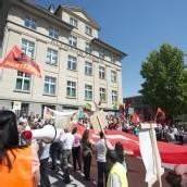 Demonstration gegen türkische Regierung