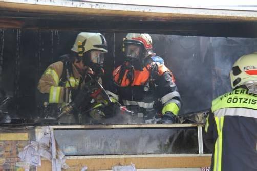 Die Feuerwehr konnte den Brand rasch löschen. Foto: vol.at/sturn