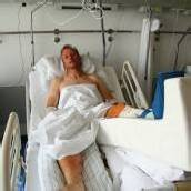 Hubsi Strolz hatte Riesenglück Nach Unfall erfolgreich operiert /B1