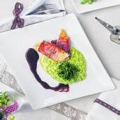 Hühnersaltimbocca mit Risotto