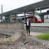 Neuer Radweg zum Lauteracher Bahnhof