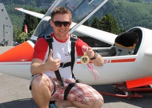 Jan Jagiello durfte sich über seinen ersten Staatsmeistertitel im Streckensegelflug und die Geburt seiner Tochter Hanna freuen. Foto: verein