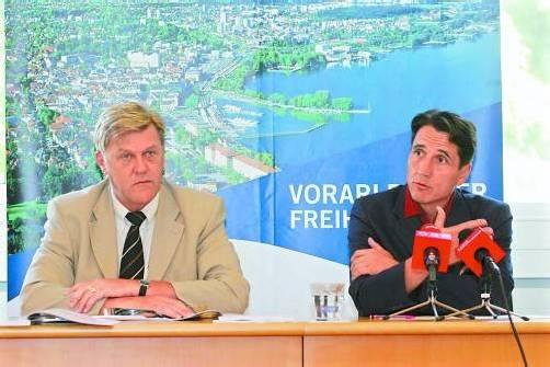 Könnten künftig gemeinsam für die FPÖ im Nationalrat sitzen: die Vorarlberger Bernhard Themessl (l.) und Reinhard Bösch. Foto: VN/Hofmeister