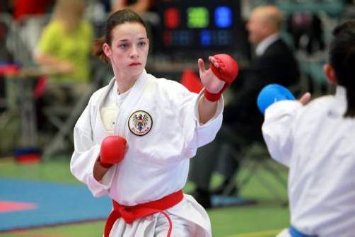 Karate-Europameisterin Bettina Plank. Foto: ökb