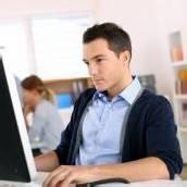 Weiße Online-Weste für Job