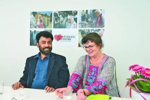 Sie machen sich stark für Lepra-Erkrankte in Pakistan: Mervyn Lobo und Claudia Villani.