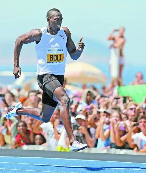 Startet in Rom die Europa-Saison: Usain Bolt. Foto: reuters