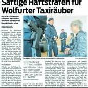 Lange Haftstrafe für Taxiräuber bestätigt