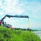 Feuerwehr Nofels rettete Kalb aus dem Rhein