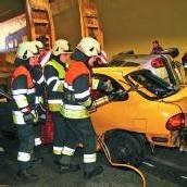 Einsatzkräfte probten im Pfändertunnel für den Ernstfall