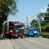 Lieferwagenfahrer starb an Unfallstelle