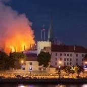 Großbrand im Rigaer Schloss