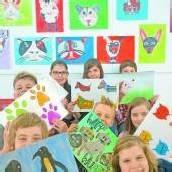 Schüler malen Tiere für Tiere