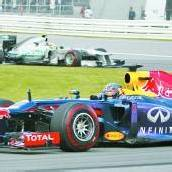Solofahrt von Vettel