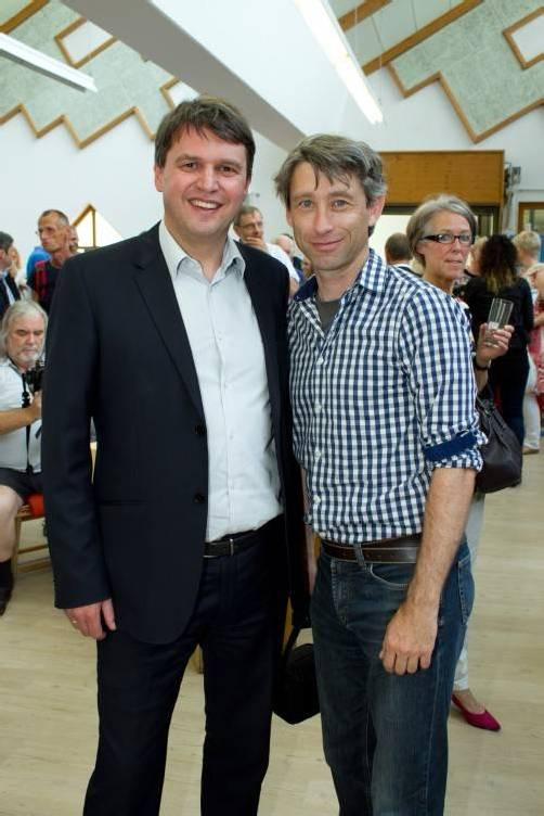 Bürgermeister Kurt Fischer (l.) mit Claudio Tedeschi.