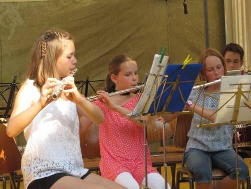 Die Jungmusikerinnen wurden für ihren Eifer belohnt. Foto: vv