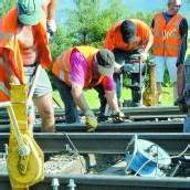 Bauarbeiten bringen die Züge aus dem Takt