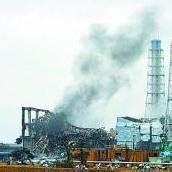 Dampf über AKW-Reaktor