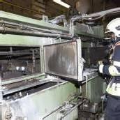 Maschine in Brand: Feuerwehr rückte aus
