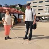 Neues Blindenleitsystem in Bregenz besteht Test