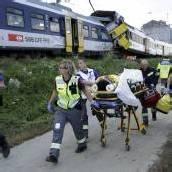 Zugunglück in Schweiz fordert Schwerverletzte
