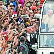 Stürmischer Empfang für Franziskus beim Weltjugendtag