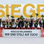 Roter Teppich für Europameisterinnen