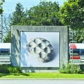 Billboards mit Arbeiten von Orozco