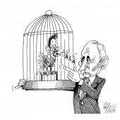 Putin mit Singvogel