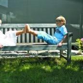 Das Leben ist schön: Garten-Idylle in Lauterach
