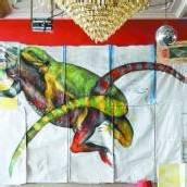 Kunstvolle Reptilienpaarung im Lindauer Marmorsaal