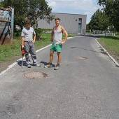 Straßenprojekt Am Böhler vor Fertigstellung
