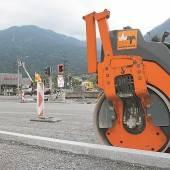Straßensperre wegen finaler Bauarbeiten