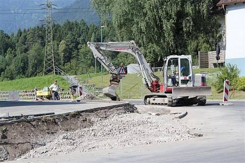 Die Arbeiten an der Verbesserung der Wasserversorgung sind in vollem Gang. Foto: ss