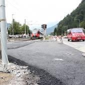 Neue Einfahrt in Vandans vor der Fertigstellung