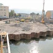 300 Betonpfähle machen das Maggi-Areal stabil